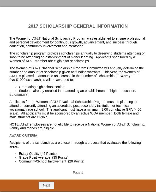Scholarship Application