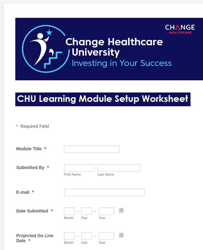 Healthcare Worksheet Form