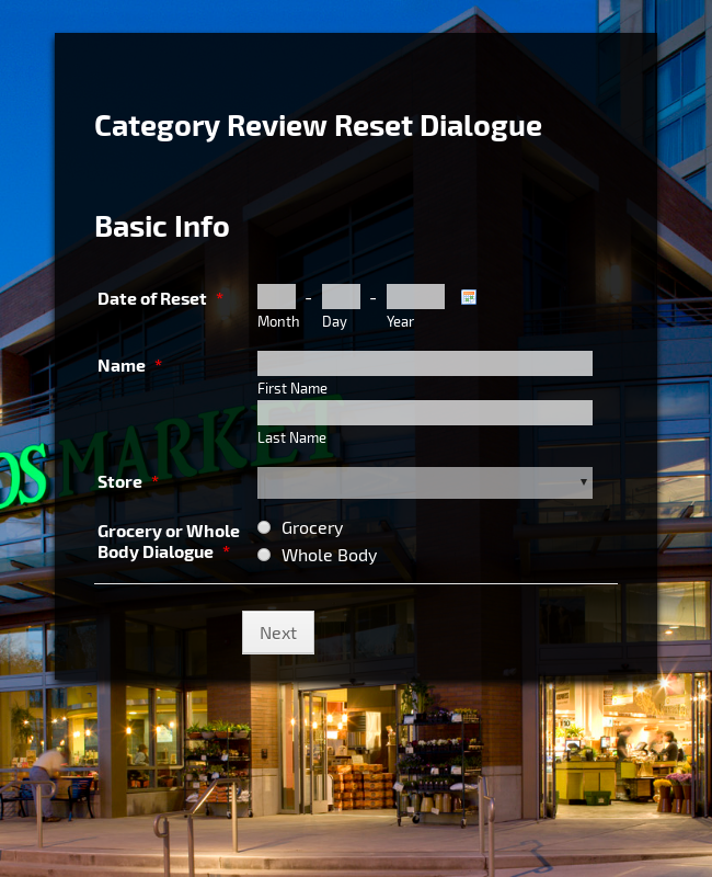 Category Review Reset Dialogue