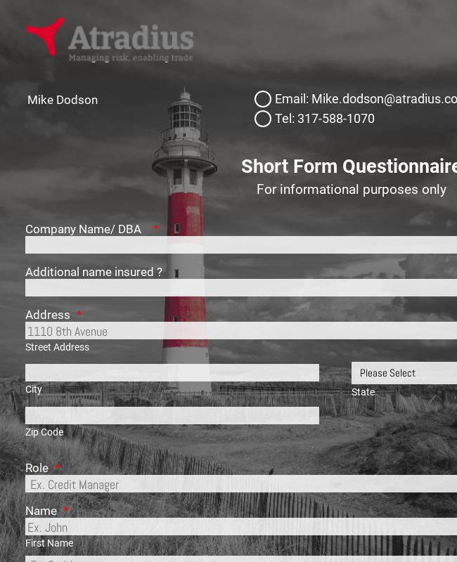 Short Insurance Form
