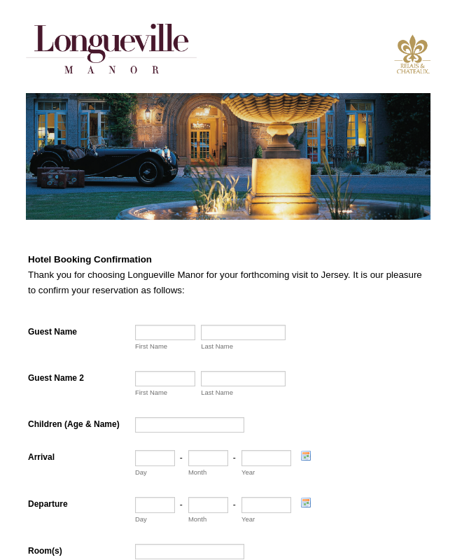 Hotel Booking Form Template | JotForm