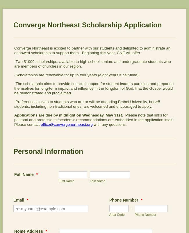 CNE Scholarship 2017