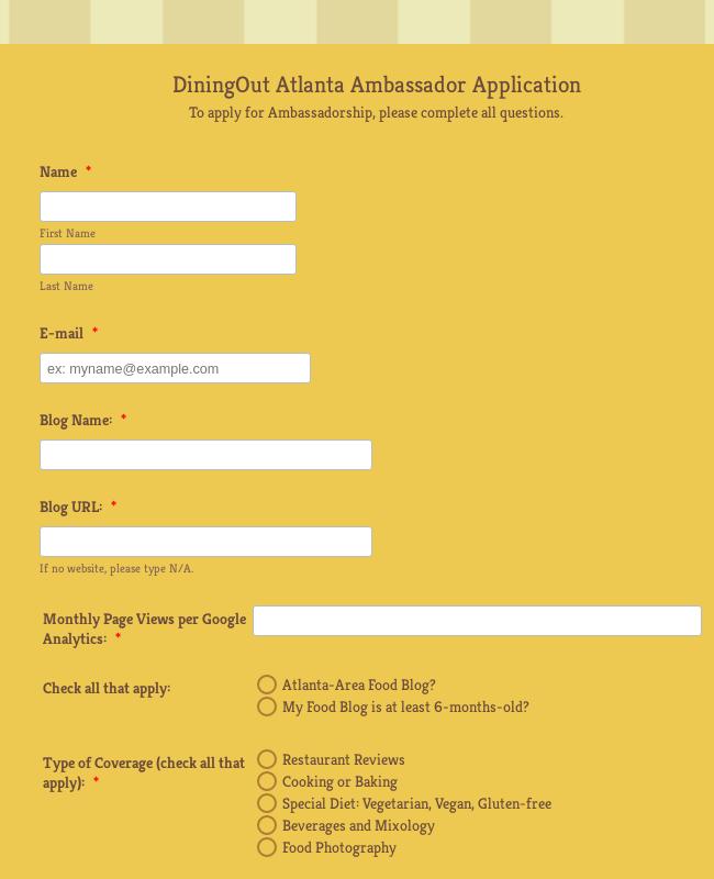 Ambassador Application Form