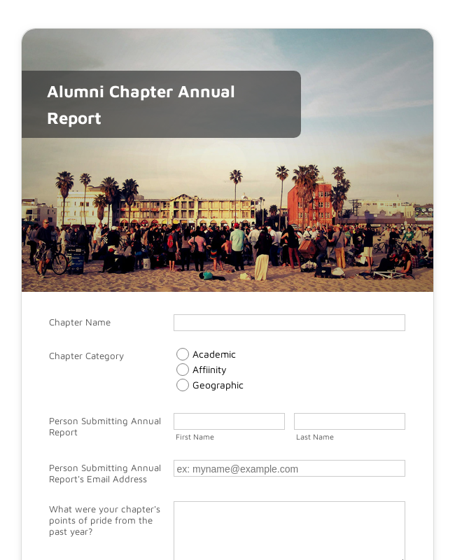Alumni Chapter Annual Report
