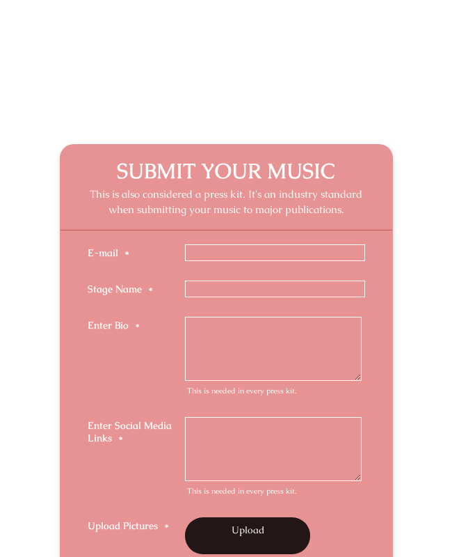 Submit Your Music