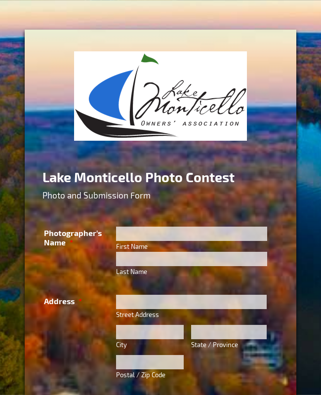 Photo Contest Form