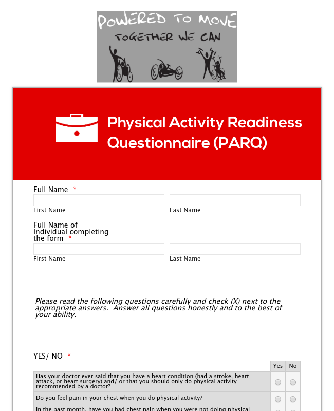 Physical Activity Readiness Questionnaire