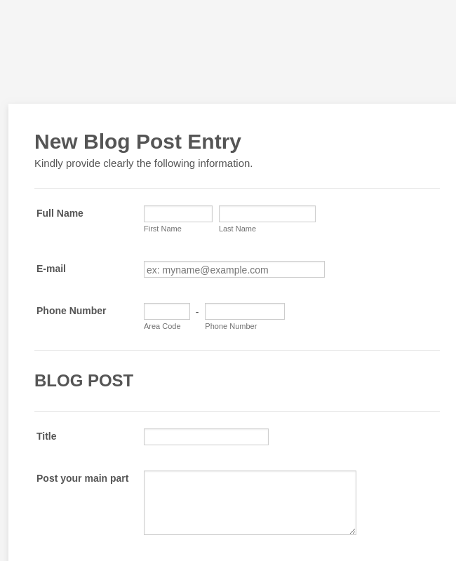 Guest Blog Posting Form Template | JotForm
