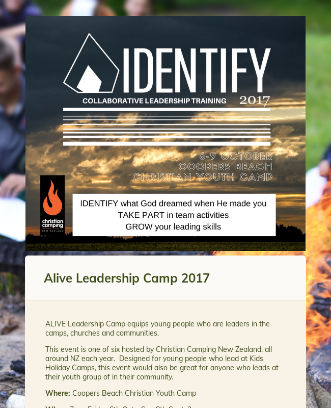Clone of ALIVE Leadership Camp