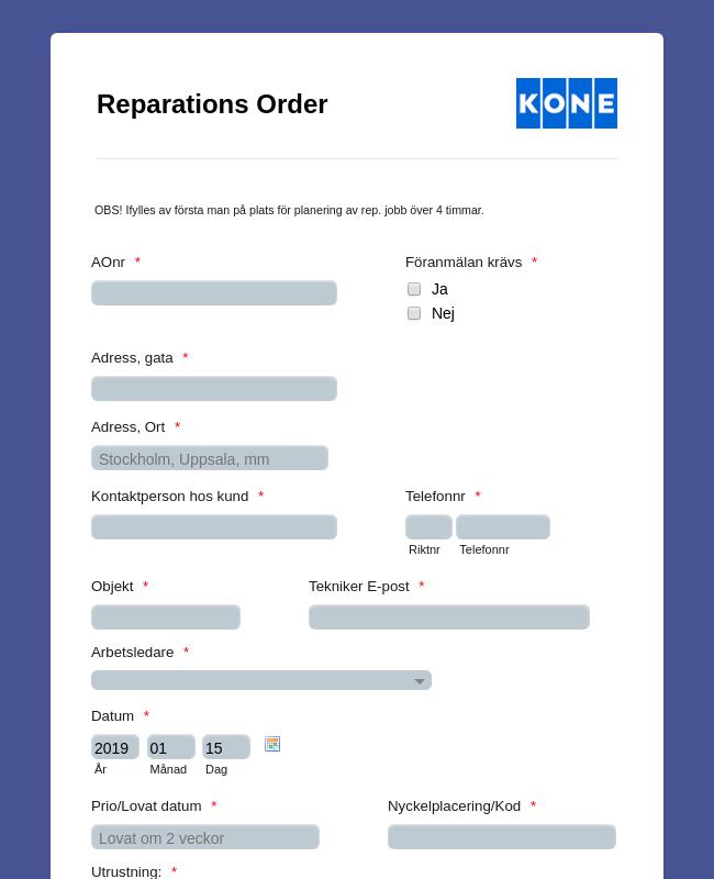 Reparations Order