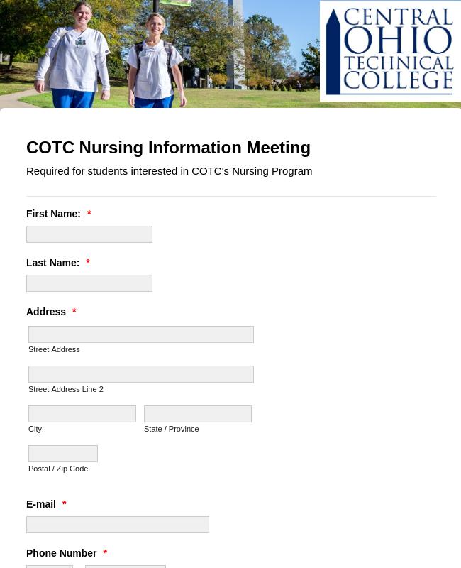 Nursing Information Meeting Form