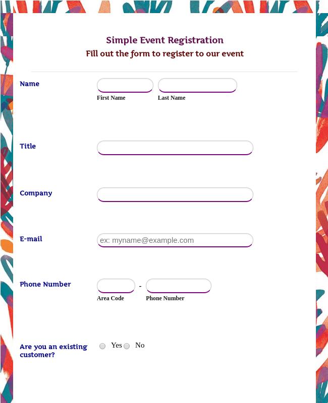 Simple Event Registration Form
