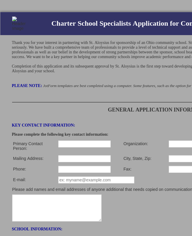Clone Of CSS Existing School Sponsorship Application