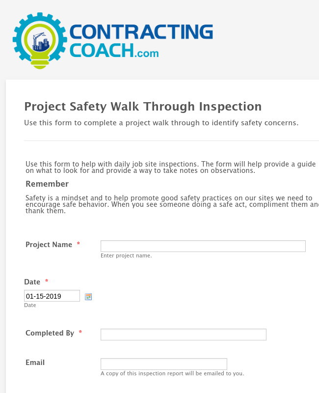 Daily Safety Inspection