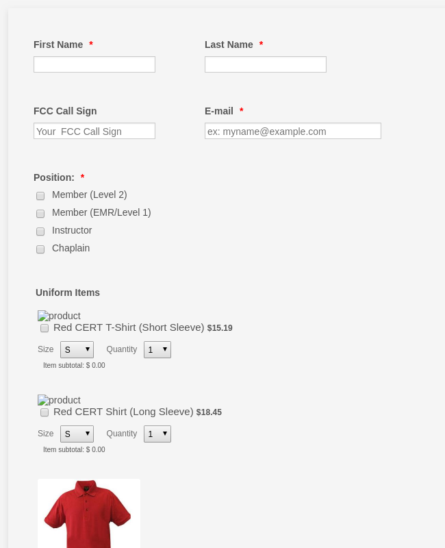 Custom Apparel Order Form Template Jotform