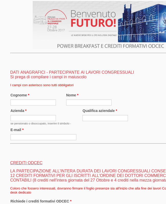 Power Breakfast E ODCEC   XL Congresso Nazionale ANDAF