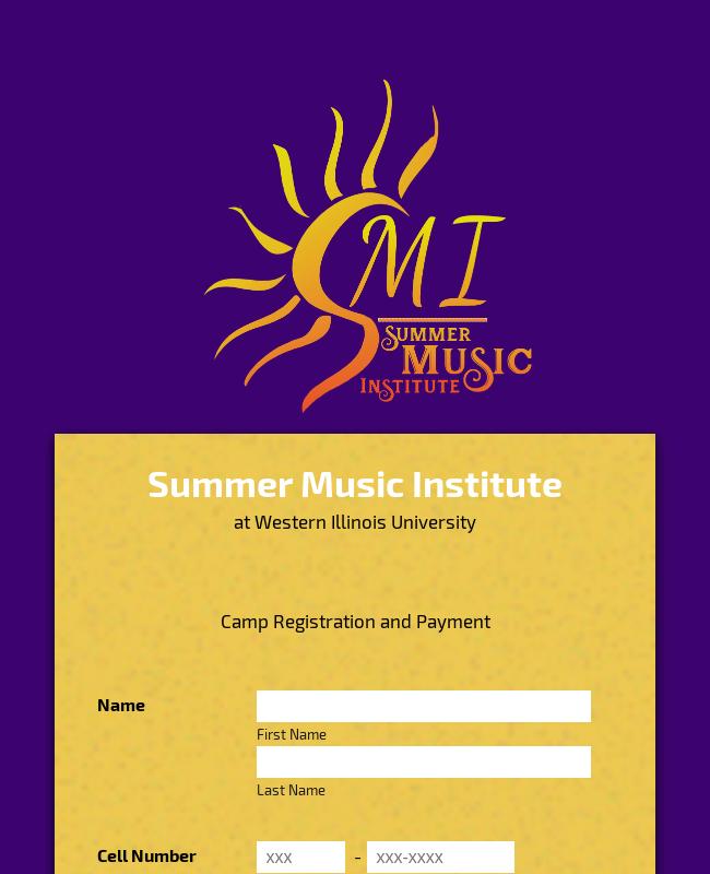 Summer Music Camp Registration
