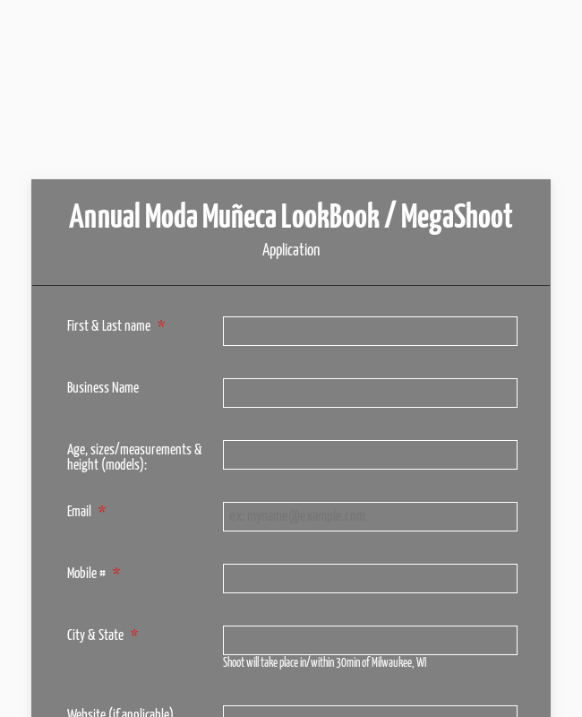 Moda Muñeca LookBook MegaShoot Application