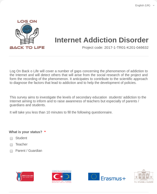 Internet Addiction Disorder Survey
