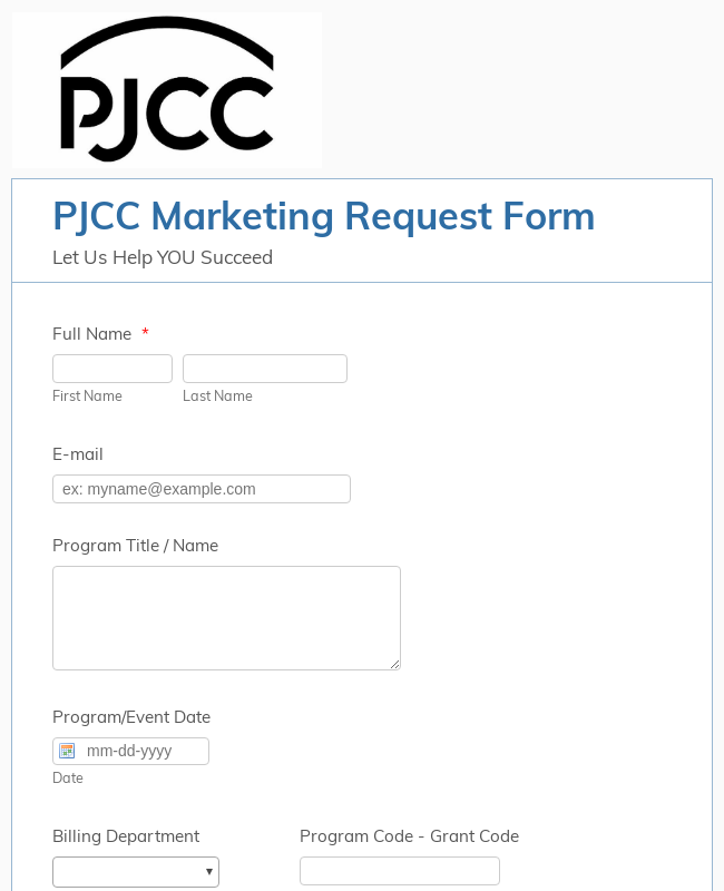 Marketing Request Form