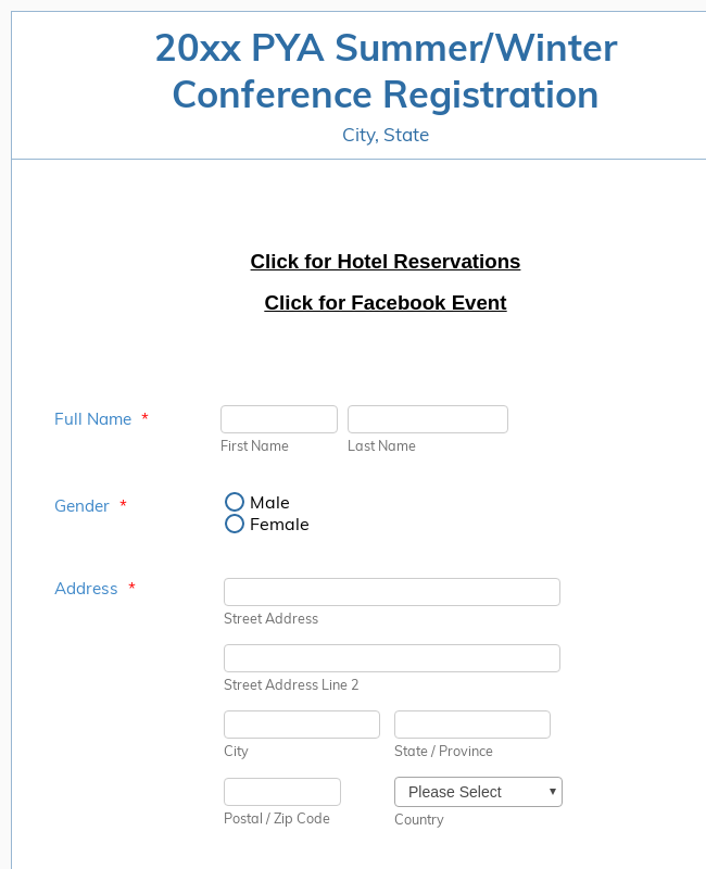 PYA Conference Template