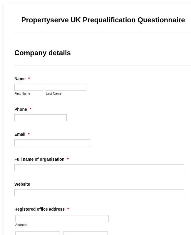 Prequalification Questionnaire
