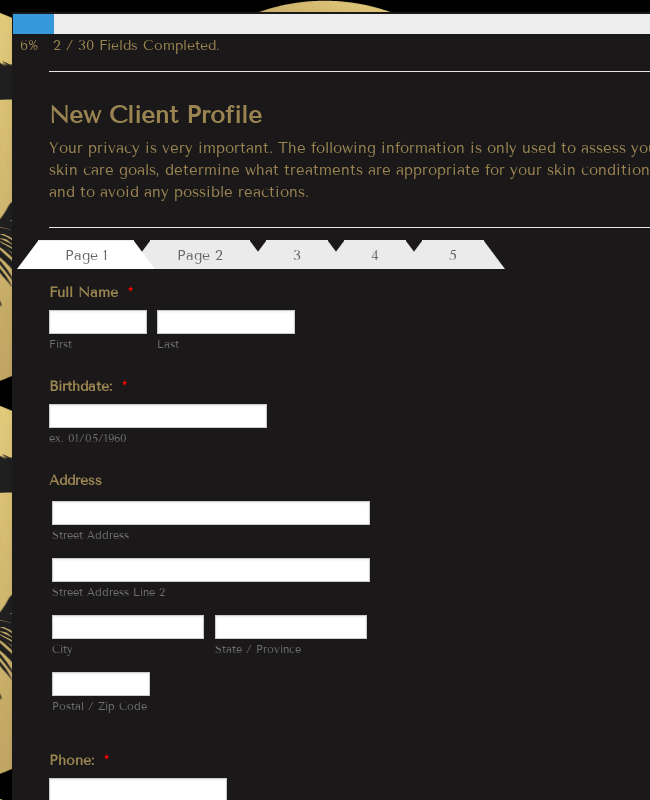 New Client Profile