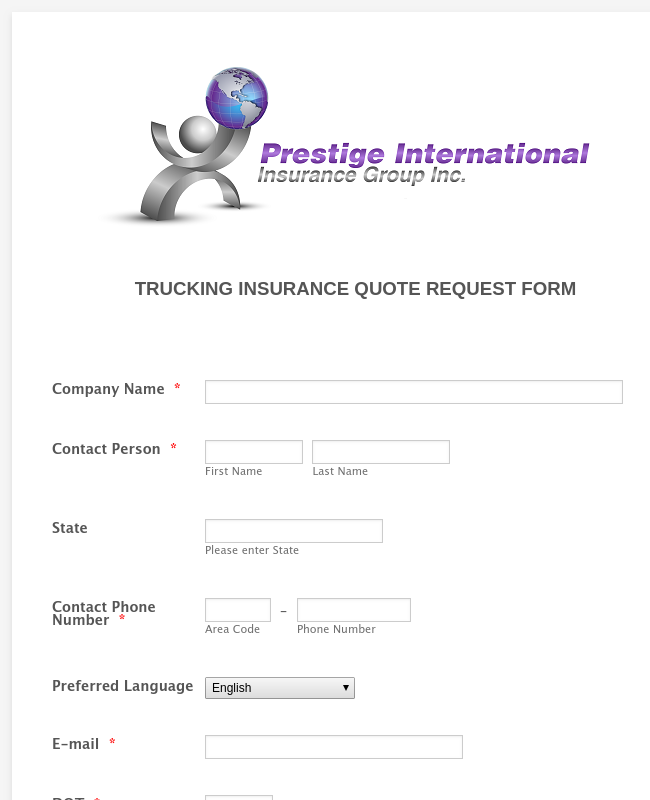 Prestige2 Truck Quote Form_New