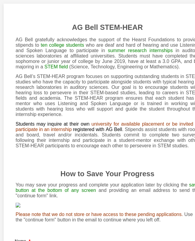 STEM-HEAR Application