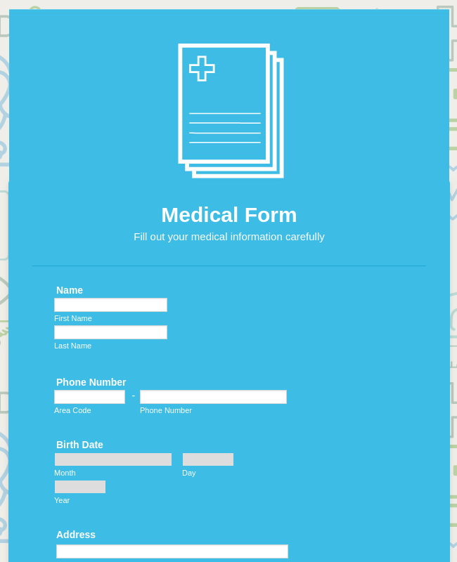 Summer Camp Medical Form