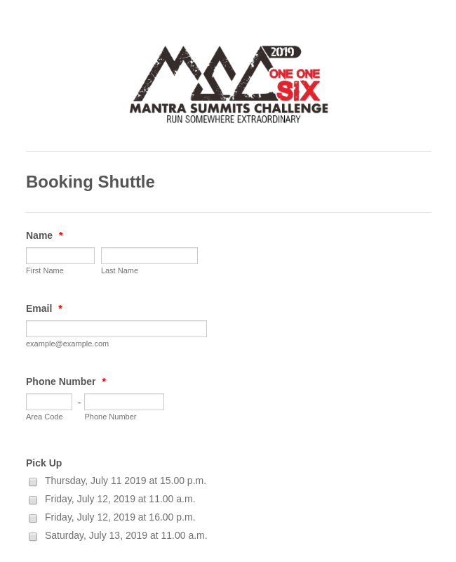 Booking Shuttle