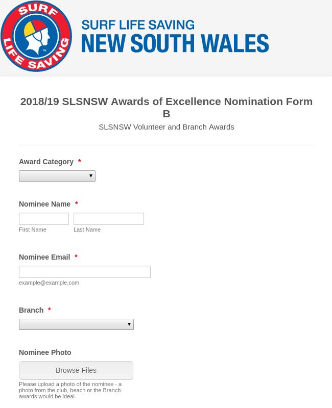 SLSNSW Volunteer and Branch Awards - 2018/19 Season