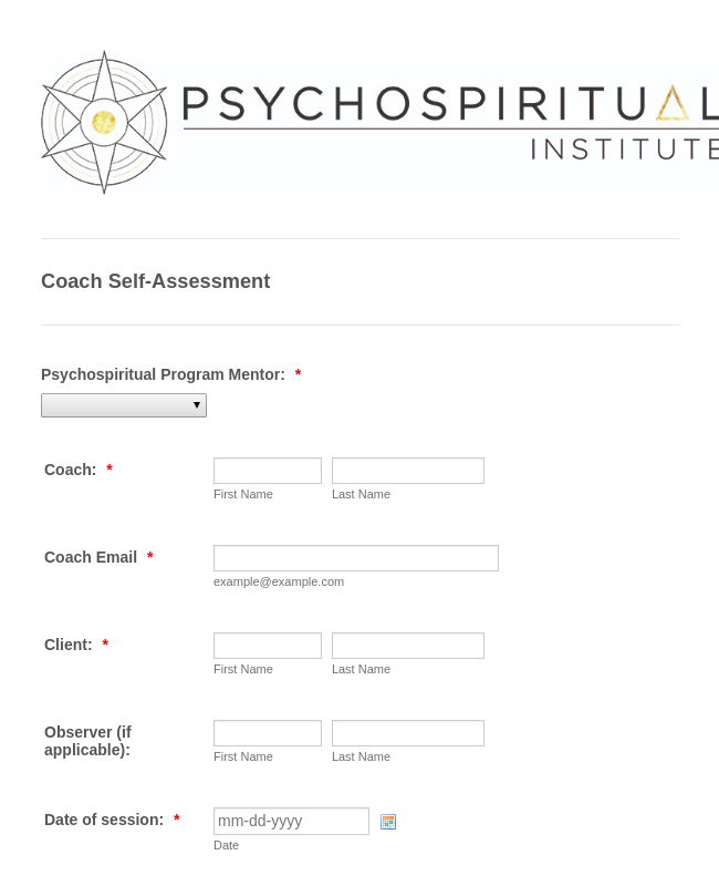 Coach Self-Assessment Psychosynthesis