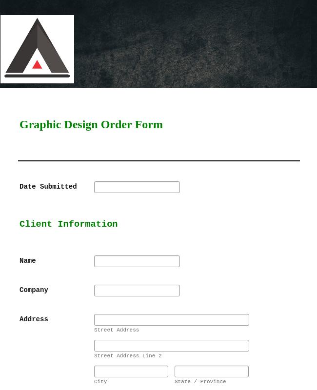 Graphic Design Request Form