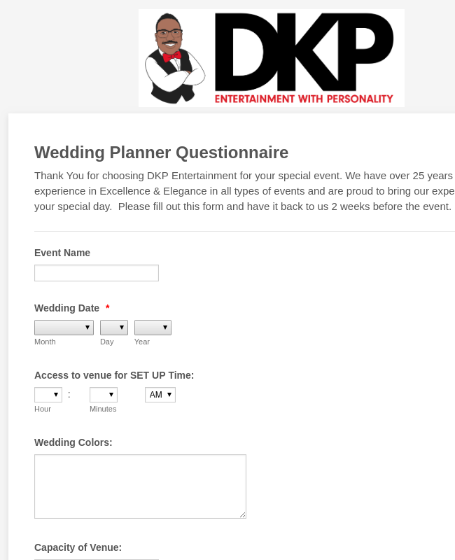 DKP Wedding Planner Form2