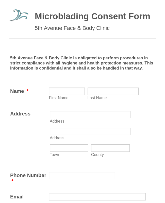 Microblading Consent Form