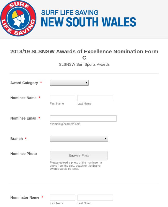 SLSNSW Surf Sports Awards - 2018/19 Season