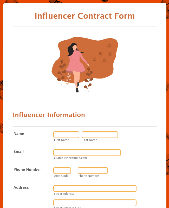 Influencer Contract Form