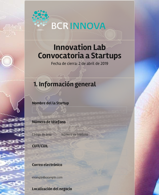 Innovation Lab - Solicitud Startups