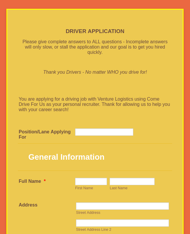 Truck Driver Application