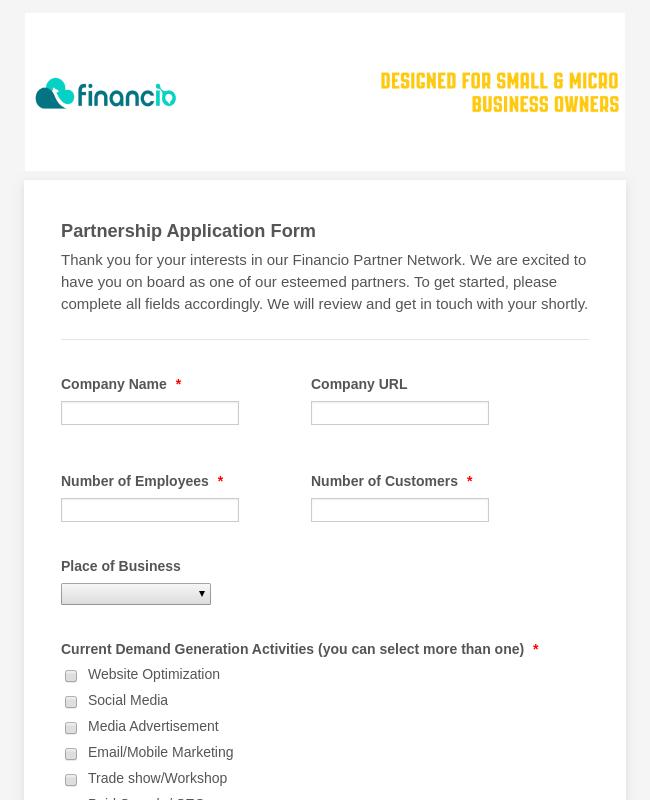 Partnership Application Form