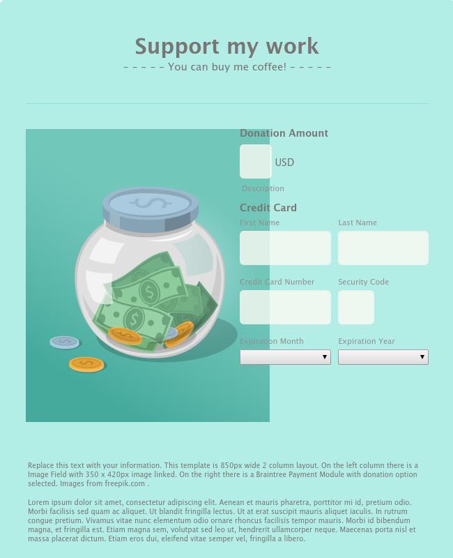 Non-Profit Donation Template - WorldPay US