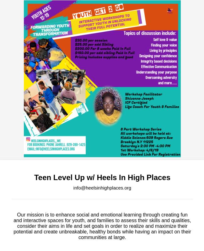 Youth Interactive Workshop Registration Form