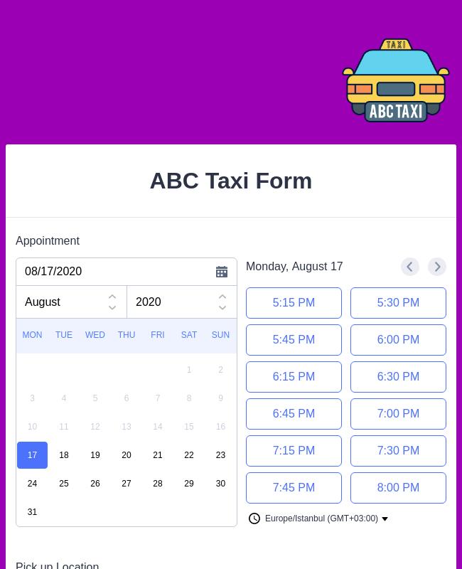 Create Taxi Receipts