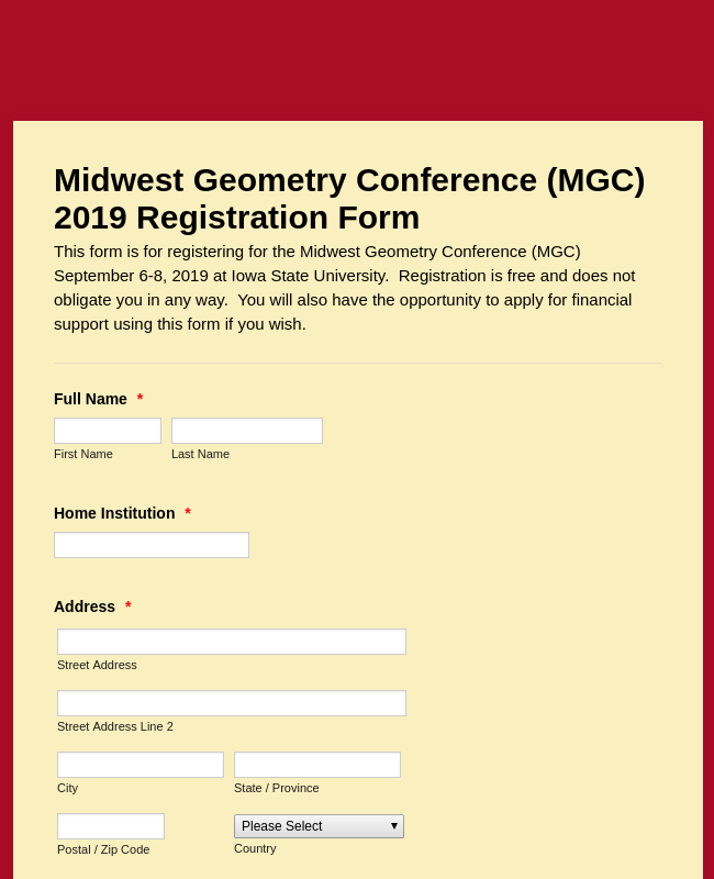 Registration Midwest Geometry Conference 2019 (XH Nguyen)