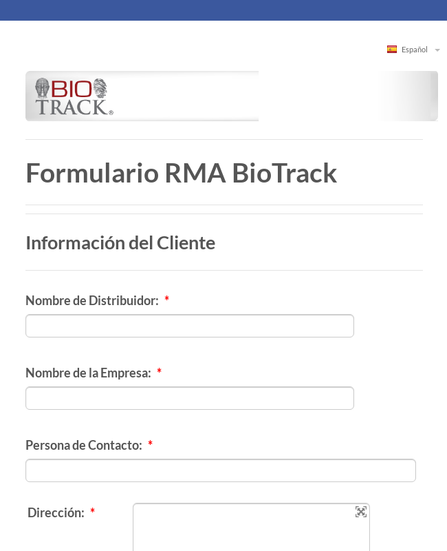 Clone of Formulario RMA BioTrack