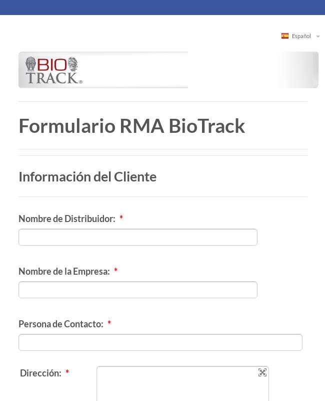 Clone of Formulario RMA BioTrack