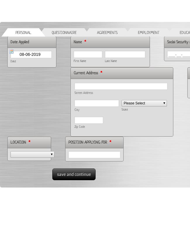 Mesquite Services Employment Application(non DOT)
