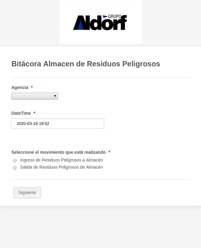 A&D Bitácora Almacen RP
