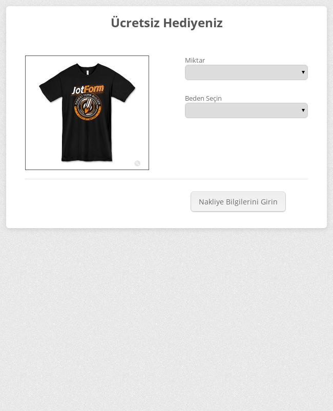 Tişört Sipariş Formu